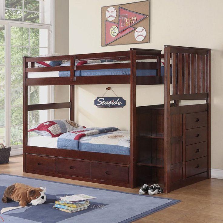 Walmart Boraam Twin Over Twin Bunk Bed with Guardrail