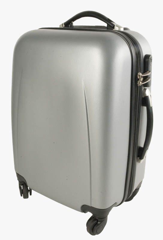 Valigia rigida in ABS con trolley interno foderato dimensioni standard per bagaglio a mano
