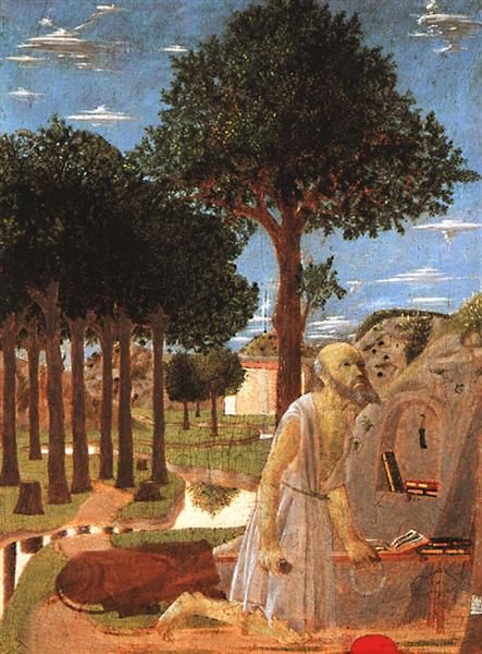 The Penance of St. Jerome, 1450 - Piero della Francesca