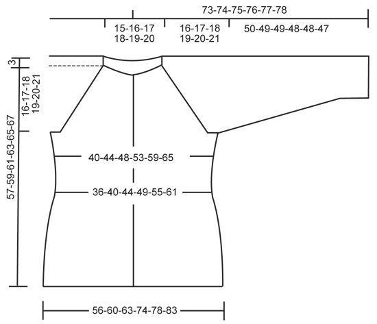 Palmikollinen DROPS raglanjakku Cotton Merino -langasta. Koot S-XXXL. Ilmaiset ohjeet DROPS Designilta.