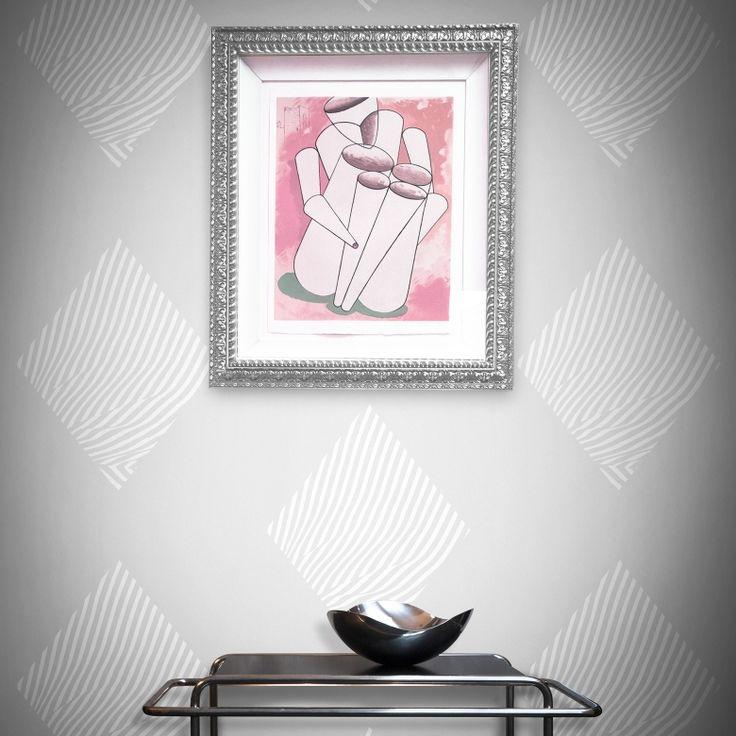 Diamond Zebra Wallpaper by Alex Finney   FEATHR™