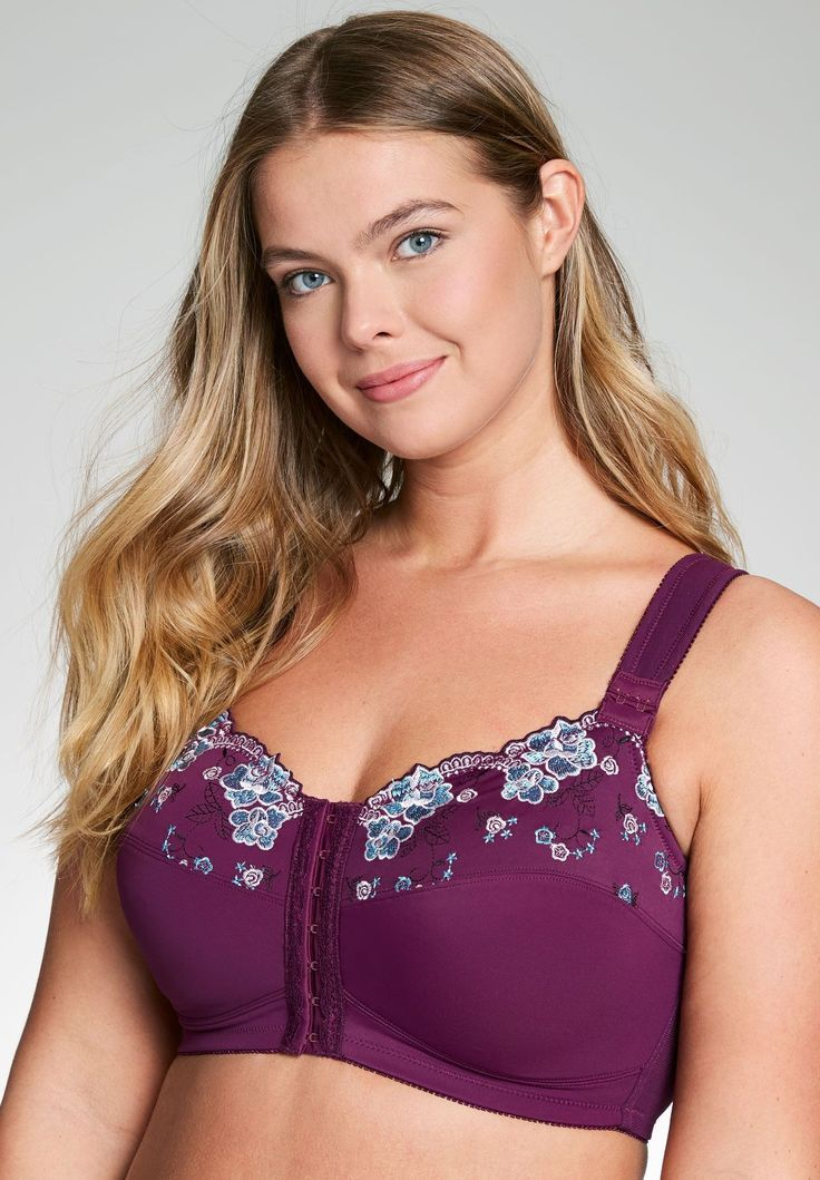 62ad1d27070 A plus size bra that beautifully lifts and shapes offering firm support.  Our beautiful wireless embroidered posture bra is the perfect bra to  support and ...