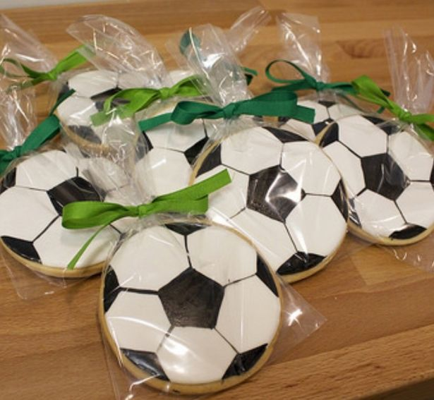 Soccer Ball Decorated Sugar Cookies by Sugar Love & Happiness on Gourmly