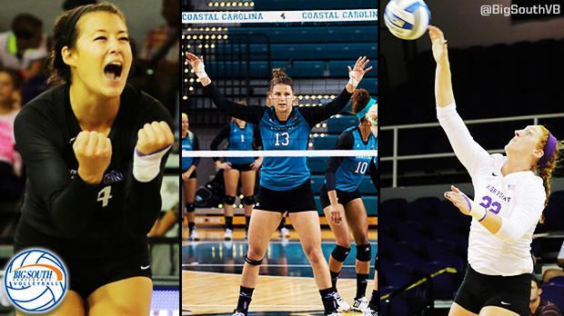Big south POWs: CHARLOTTE, N.C. (www.BigSouthSports.com) – Coastal Carolina middle blocker Eszter Nagy (Budapest, Hungary) has been named the Choice Hotels Big South Volleyball Player of the Week, while High Point's Annemarie Chin (Tallahassee, Fla.) is the Defensive Player of the Week for matches played Sept. 21-27, it was announced today by the conference office.  In addition, High Point's Molly Livingston (Sun Prairie, Wis.) has been selected as The Crons Brand Freshman of the Week.