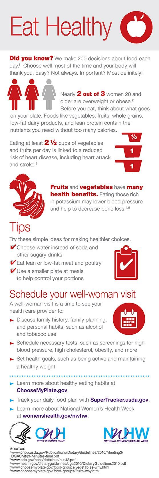 Did you know eating 2 1/2 cups of vegetables and fruits per day is linked to a r…