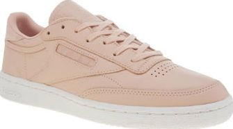 Reebok Pale Pink Club C Nude Womens Trainers Another 80s classic is brought up to modern speed, as Reebok continue their collaboration with FACE Stockholm. The Club C Nude arrives in pale pink leather, complete with tonal branding, perforated de http://www.comparestoreprices.co.uk/january-2017-8/reebok-pale-pink-club-c-nude-womens-trainers.asp