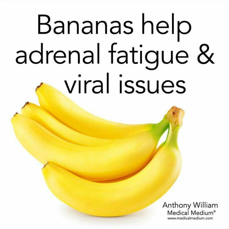 Nutrition Tips: Bananas for adrenal fatigue and viral support.