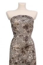 luxusní,elastický úplet s puntíky v barvě Hazelnut