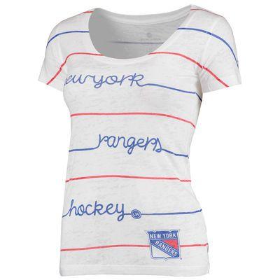New York Rangers Levelwear Women's Eat Play Love T-Shirt - White