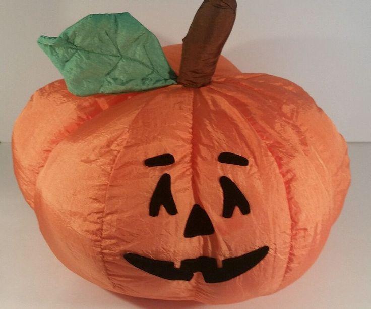 Large Puffalump Style Plush  Halloween Pumpkin Parachute  Material 16 Inches #InternationalSilverCompany