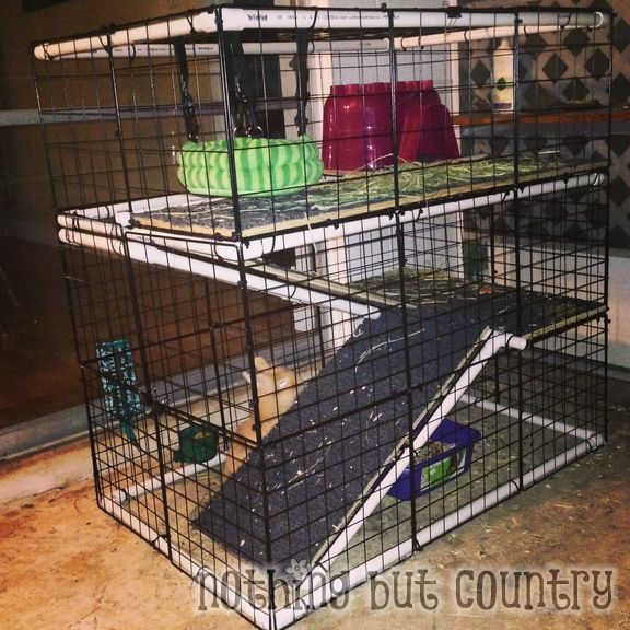 Diy rabbit bunny cage for cheap for Cheap c c cages