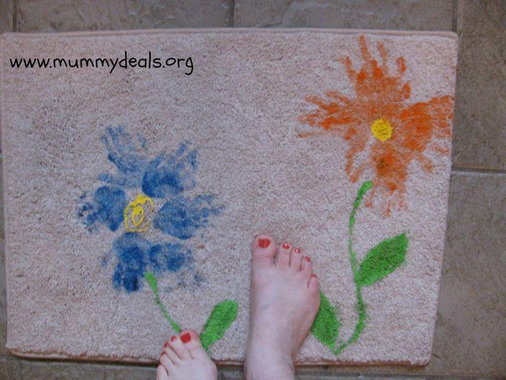 Doormat Mothers Day Craft For Kids   Handprint Mat - Mummy Deals