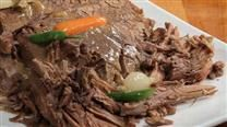 Slow Cooker London Broil  - very simple recipe. Made it tonight & it was great. Followed recipe except sauteed mushrooms separately & added before serving - delish!!