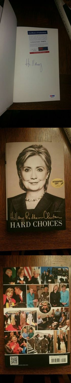 Hillary Clinton: Hillary Rodham Clinton Hard Choices Book A Memoir Signed Autographed Psa Dna Coa -> BUY IT NOW ONLY: $50 on eBay!
