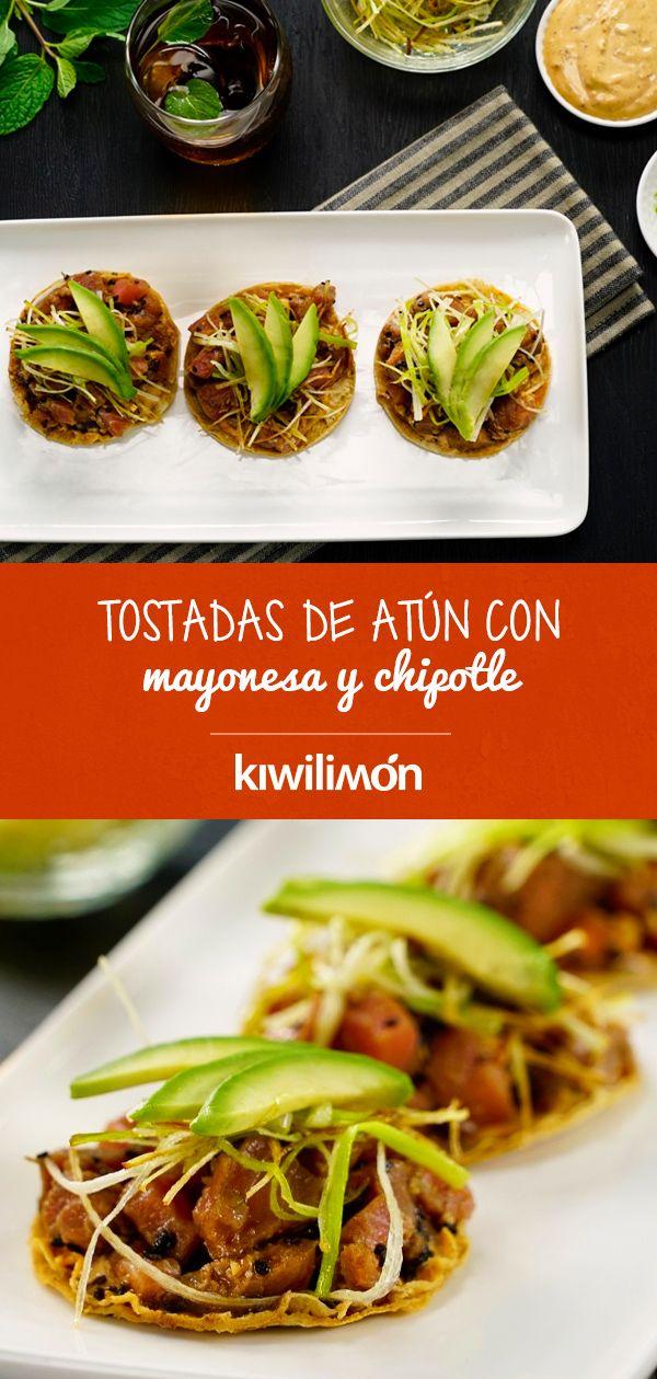 Tostadas De Atún Con Mayonesa Y Chipotle