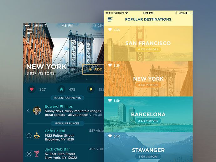 26 Innovative Mobile Travel App UI Design Concepts