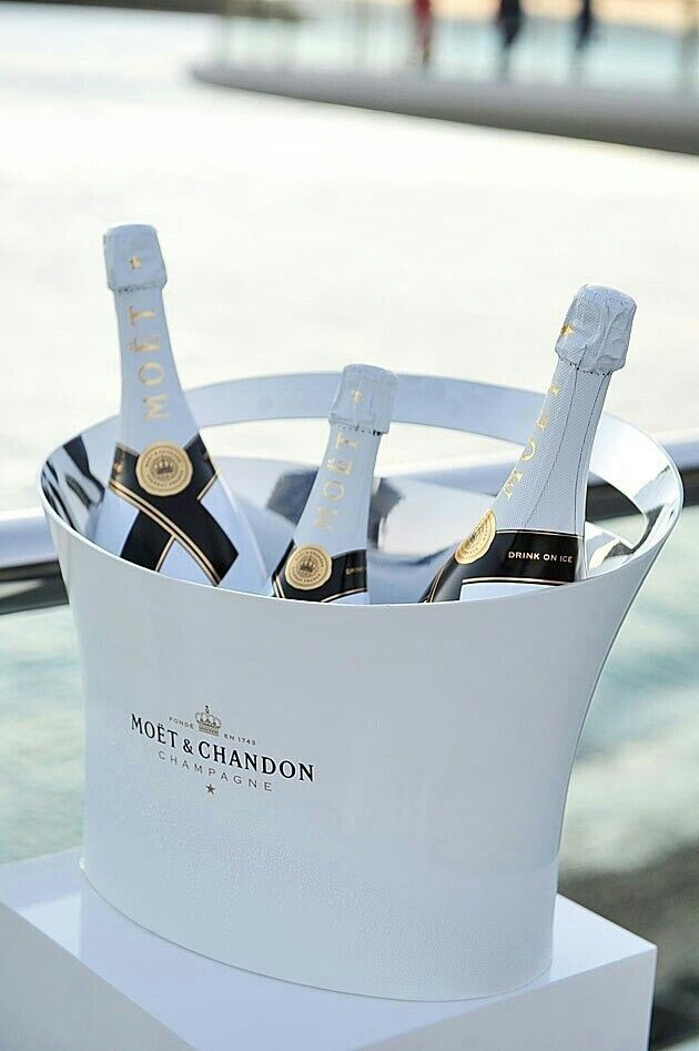 My love for Champagne ~ Moet dressed in White