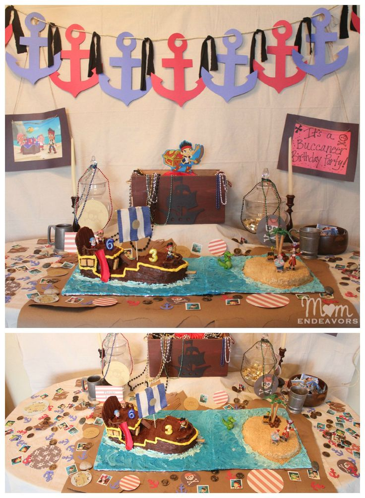 Jake and the Never Land Pirates Birthday party. Lots of fun DIY party ideas!
