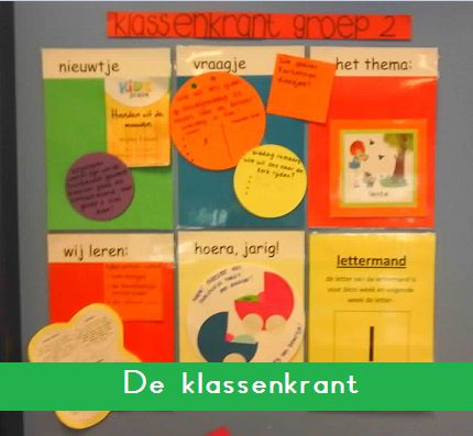 Klassenkrant - KlasvanjufLinda.nl - vol met leuke lesideeën en lesidee