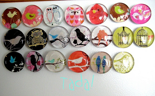 how to make those easy clear magnets