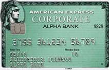 American Express Corporate card green | ALPHA BANK Greece