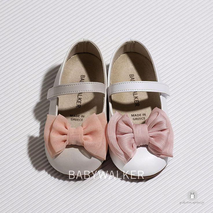 Γοβάκια για Κορίτσια Διακοσμημένα με Chiffon Φιόγκο Babywalker BS3533