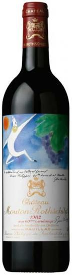 1982 chateau mouton rothschild pauillac 750ml bottle