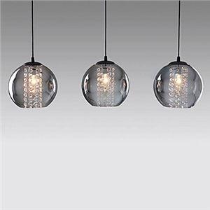 Ceiling Lights - Pendant Lights - contemporary Glass Pendant Lights with 3 Lights Transparent Shades