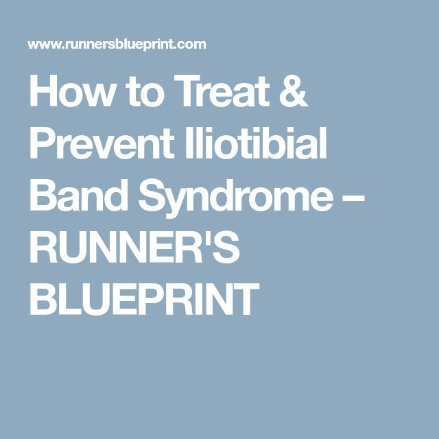 How to Treat & Prevent Iliotibial Band Syndrome – RUNNER'S BLUEPRINT