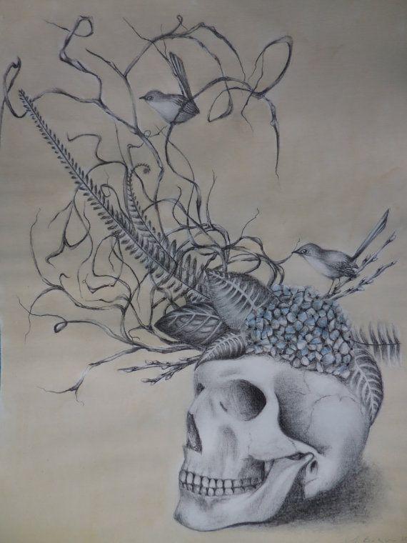 Ikebana no 7. Original graphite illustration.