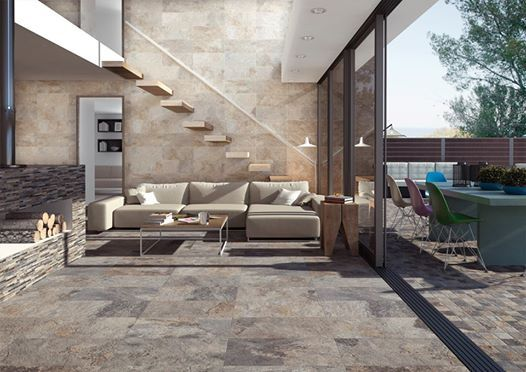Ardesia the most decorative and warm ceramic stone for Terrace floor tiles
