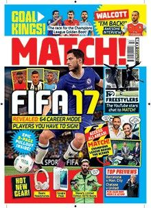 Match magazine is full of football news, interviews, comic strips and more for young football fans. Subscribe from magazine.co.uk today and save!