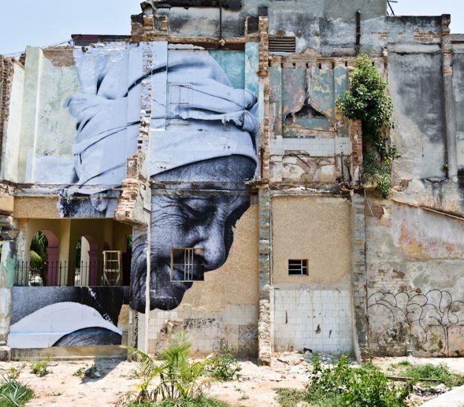 by JR + José Parlá - The Wrinkles of the City -
