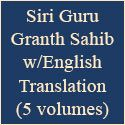 New 5 Volume Set of Guru Granth Sahib with English translation