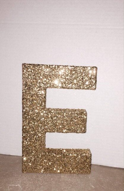 10 best images about paper mache letters on pinterest for Glitter cardboard letters