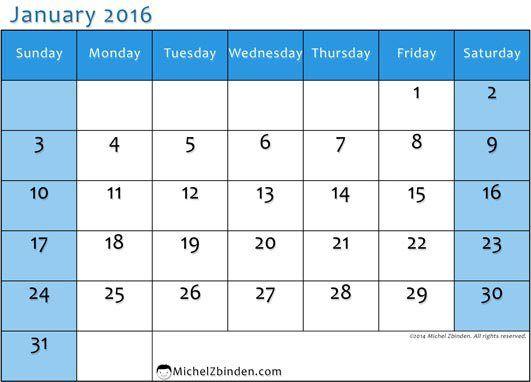 Printable Calendar January 2016 Calendar In Spanish in