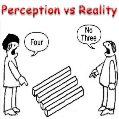 an essay on reality perception The assumed link between perception and physical reality is particularly strong  for the visual sense—in fact, we scrutinize it only when sight.