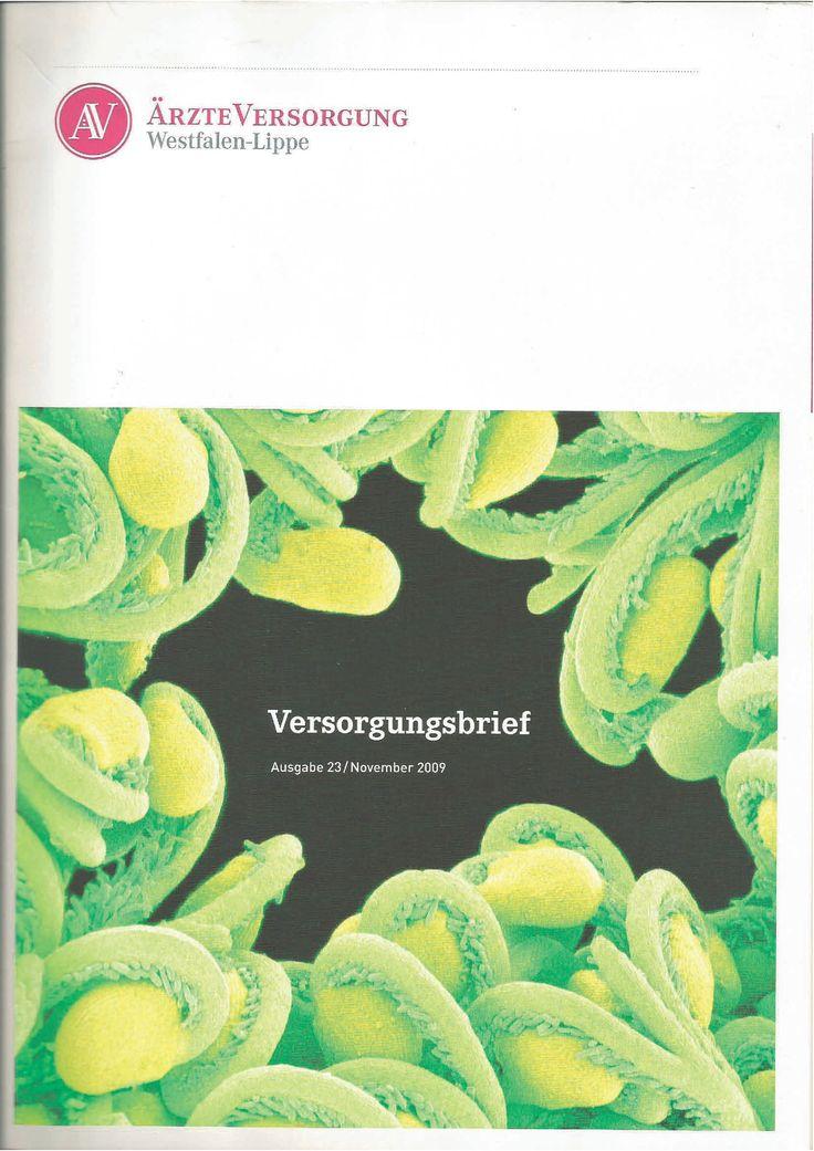 Lektorat, Gestaltung und Umsetzung des ÄVWL-Versgungsbriefes 2009