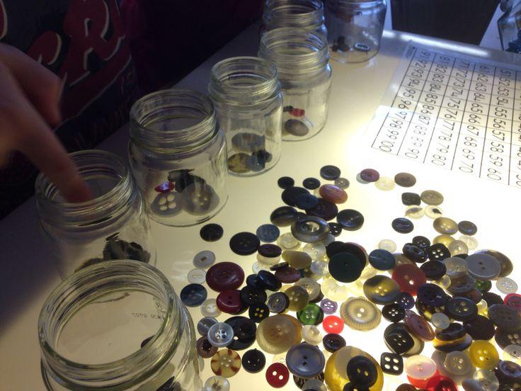 Buttons + Jars + Hundreds Grid