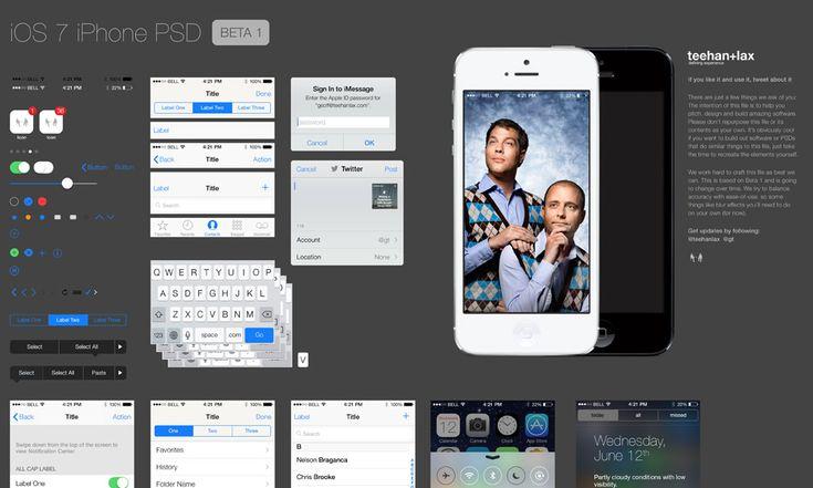 iOS7 GUI PSD | Teehan+Lax