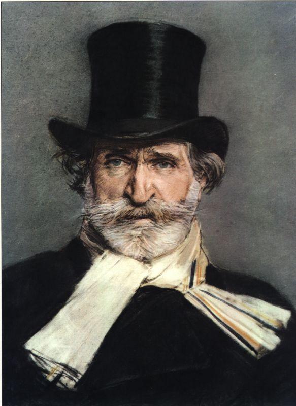 Giovanni Boldini. Retrato de Giuseppe Verdi (1886).  Galería Nacional de Arte Moderno de Roma.