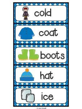Winter Vocabulary Cards & Printables - a FREEBIE from Cara Carroll!