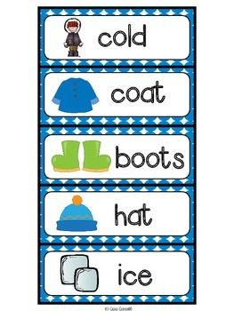 Winter Vocabulary Cards & Printables - a FREEBIE from Cara Carroll!