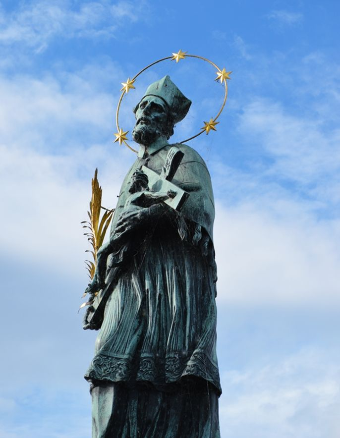St. John of Nepomuk Statue on Charles Bridge #Prague