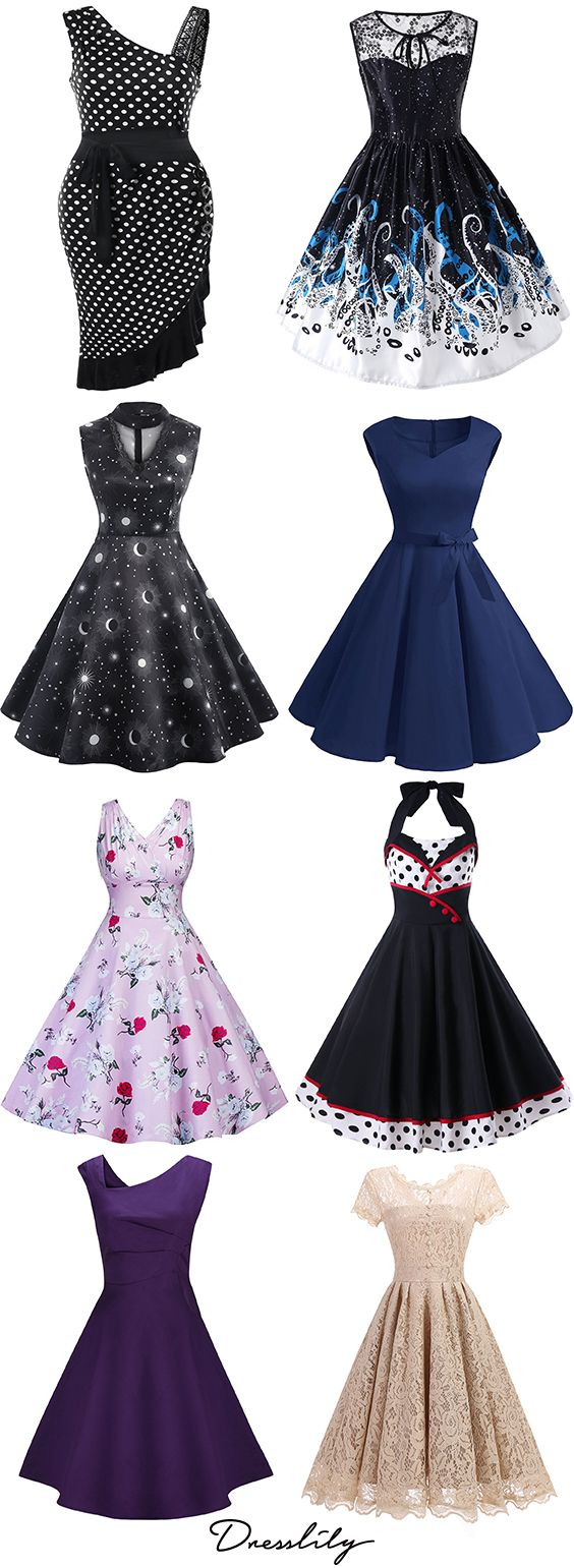 Shop womens vintage dresses cheap sale online.Dresslily offers the high quality and comfortable material Vintage Dresses at great price.FREE SHIPPING WORLDWIDE!#vintagedress#spring#springoutfit