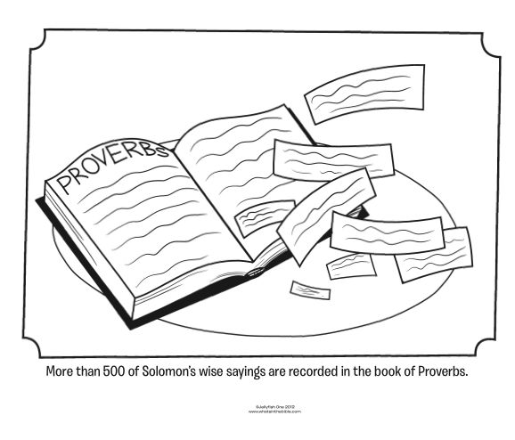 coloring pages proverbs - photo#10