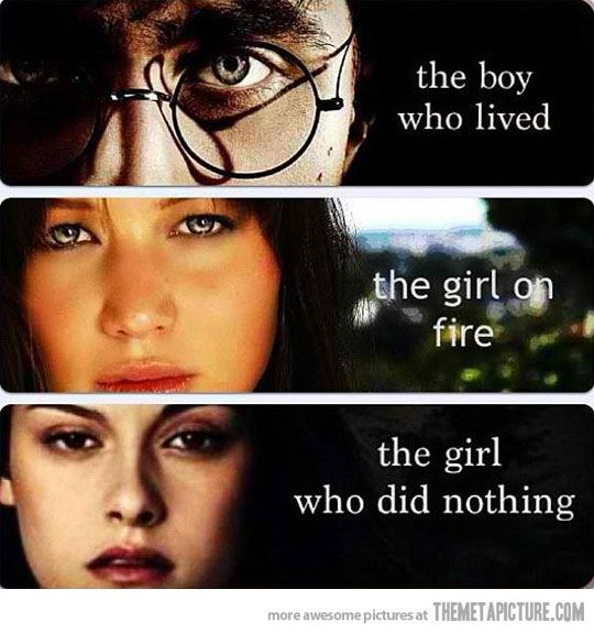 Hahaha!!: Bella Swan, Kristen Stewart, Hunger Games, Funny Stuff, So True, Harry Potter, True Stories, The Hunger Game, Role Models