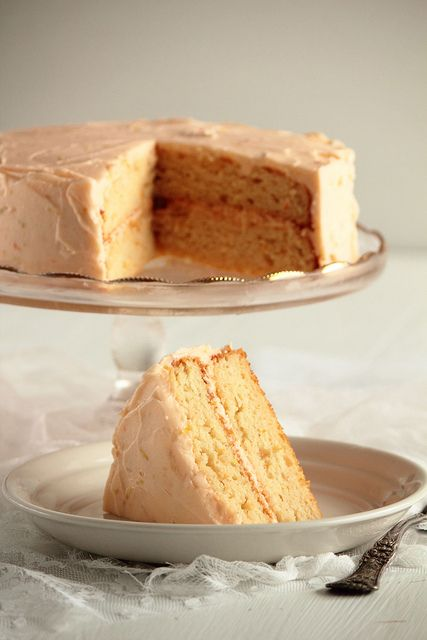 Grapefruit Cake with Grapefruit Buttercream by pastryaffair,  ~  This cake is fresh, bright, with a flavor you can truly appreciate whether you simply love a good grapefruit!
