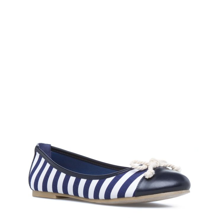There's no better time than now to rock a nautical ballet flat like Ariadne. Plus, she gives you the perfect excuse to throw a yacht party!