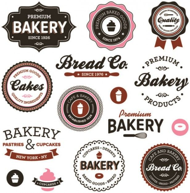 like the cupcake image in top middle and the badge in top left